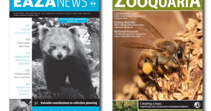Covers of EAZA NEWS and ZOOQUARIA