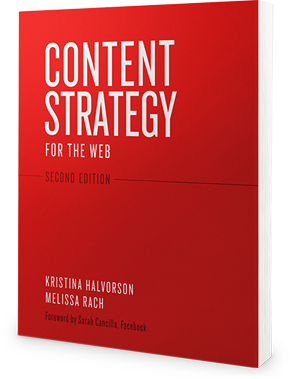 Photo of the book Content Strategy for the Web