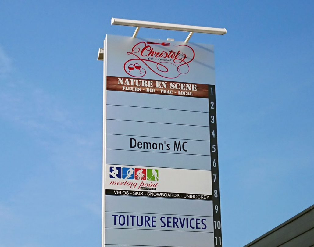 Photo of the sign outside a business park in Vich
