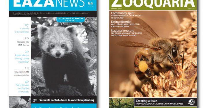 Covers of EAZA NEWS and ZOOQUARIA
